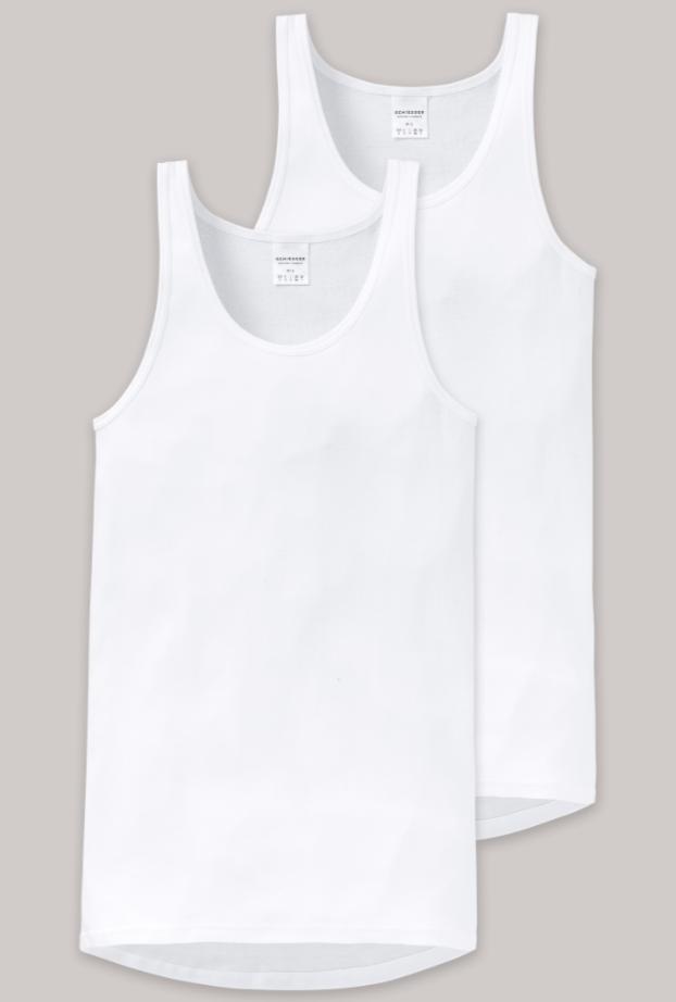 Schiesser Original Feinripp, 2-pack hemd wit