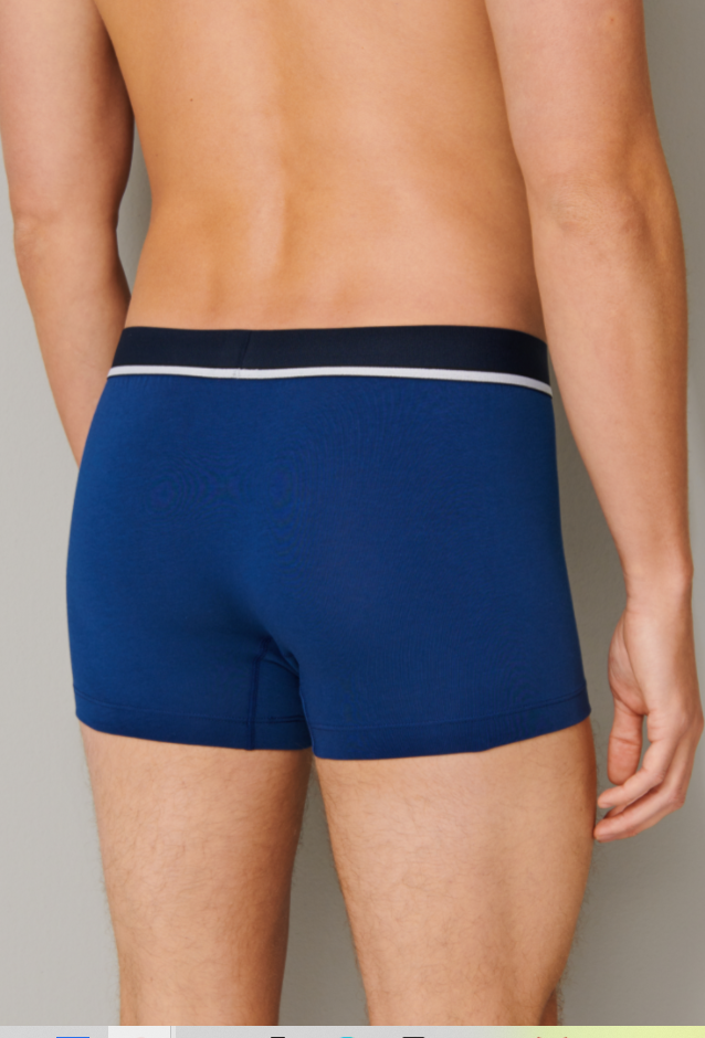 Schiesser 95/5 short, 3-pack, donkerblauw, zwart, kobalt blauw