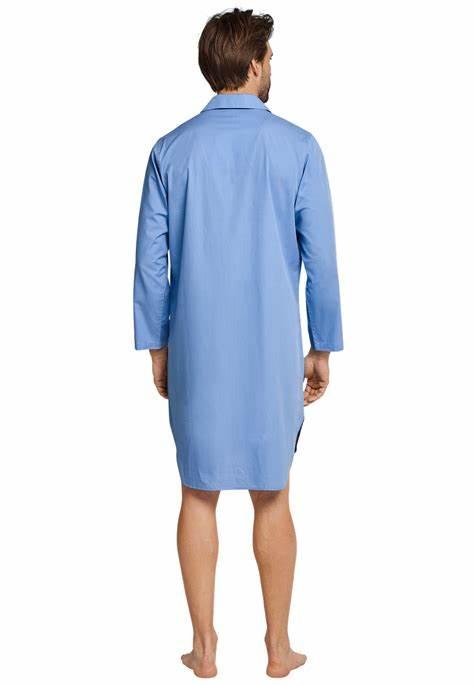Schiesser Seidensticker heren nachthemd lichtblauw