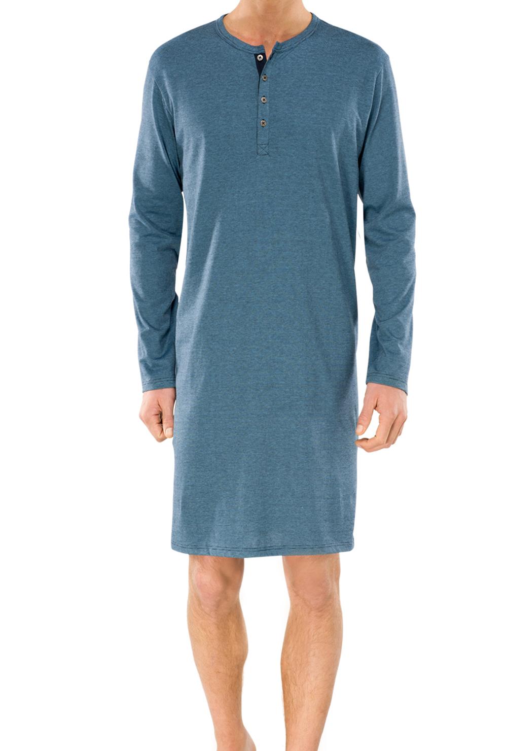 Schiesser heren nachthemd, indigoblauw