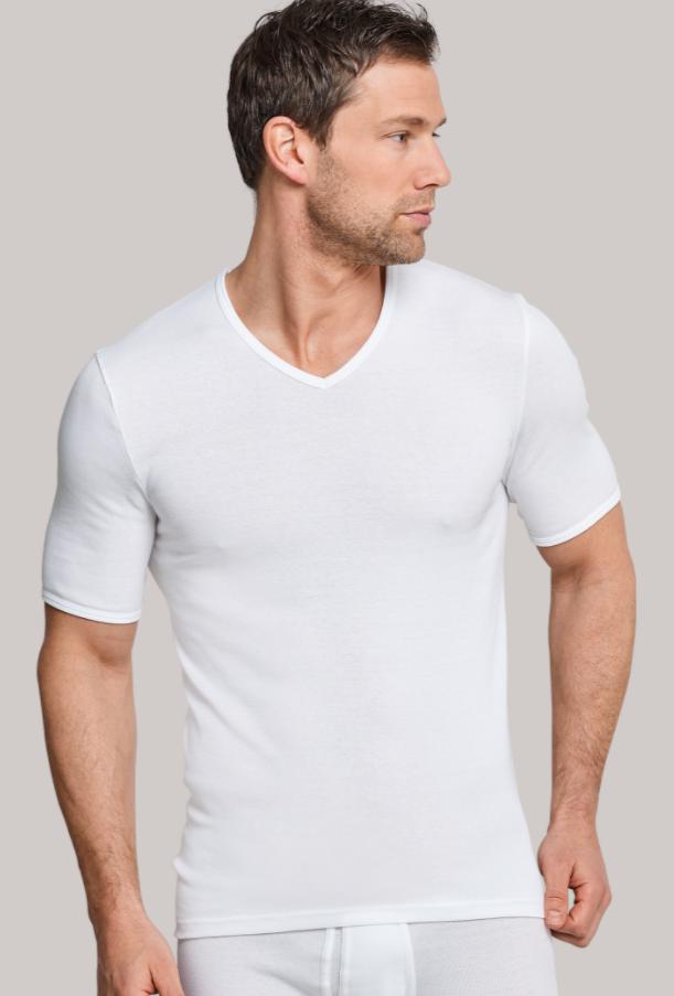Schiesser Original Feinripp t-shirt, V-hals