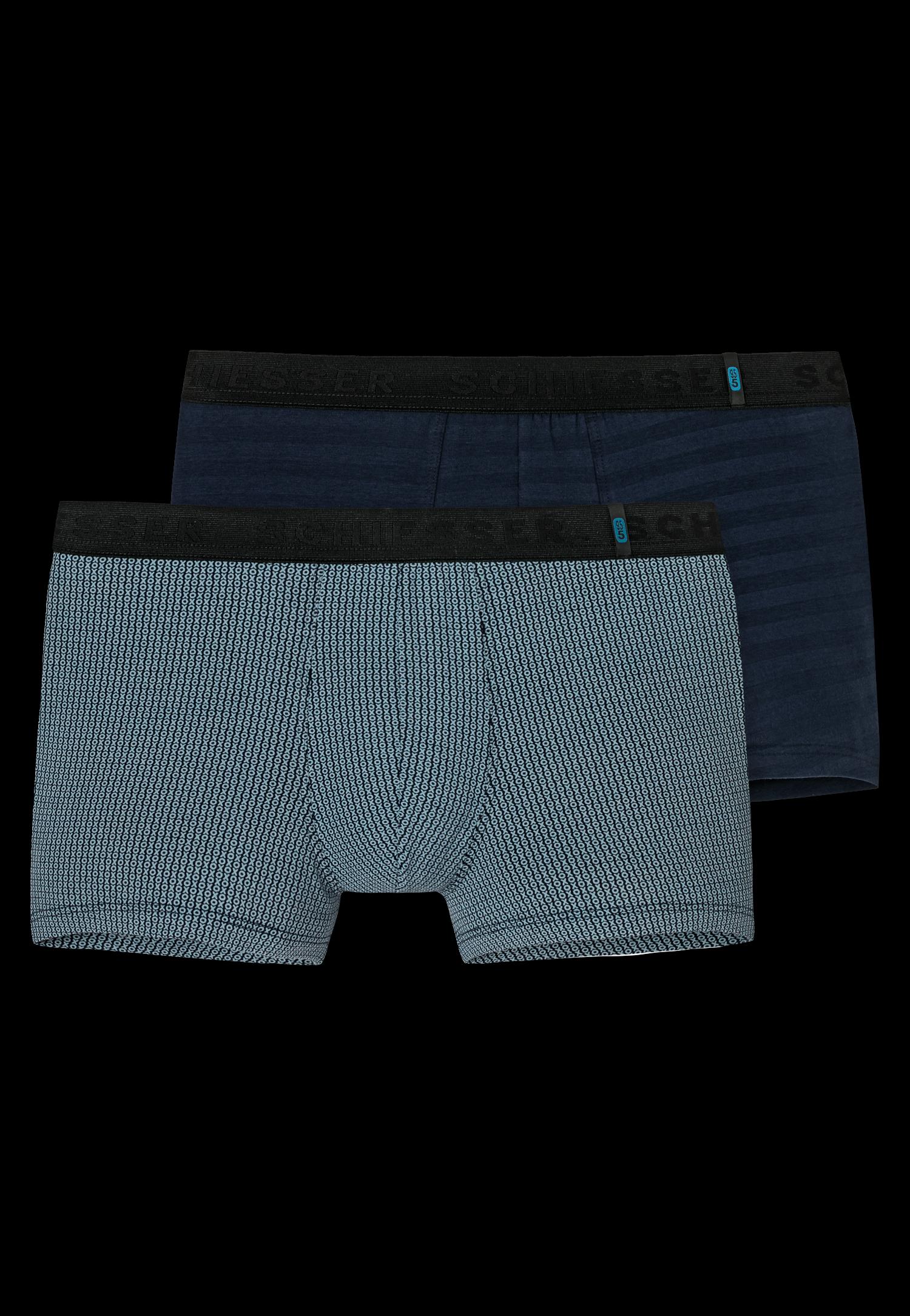 Schiesser 95/5 short kort- 2-pack blauwtinten