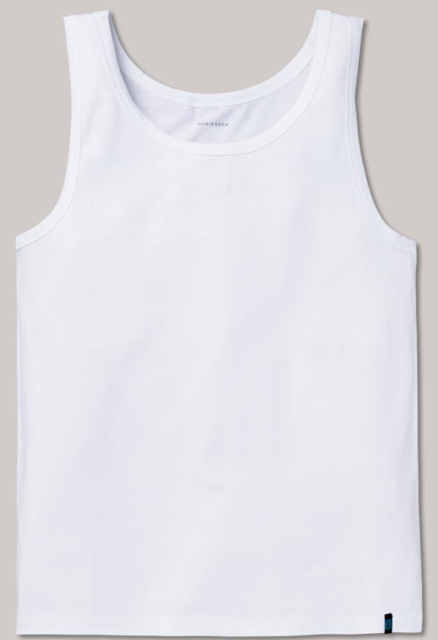Schiesser 95/5 hemd in wit en zwart