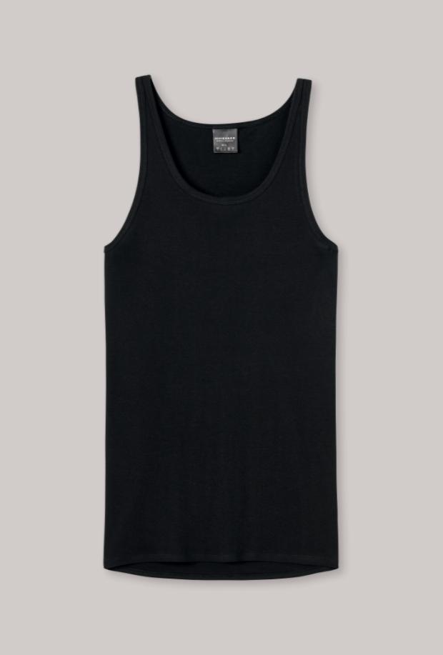 Schiesser Original Feinripp hemd-zwart