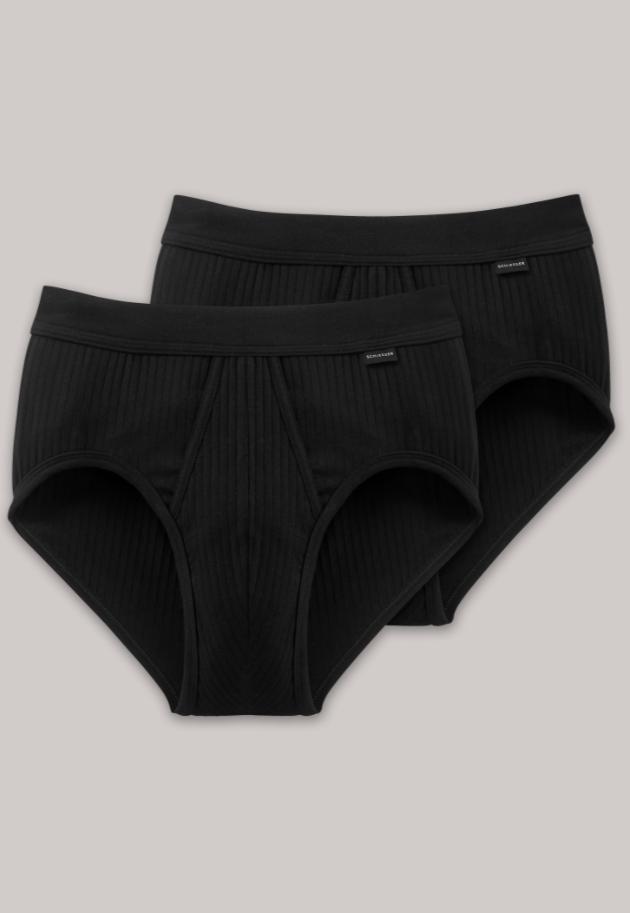 Schiesser Authentic sportslip, 2 pack, in wit en zwart verkrijgbaar