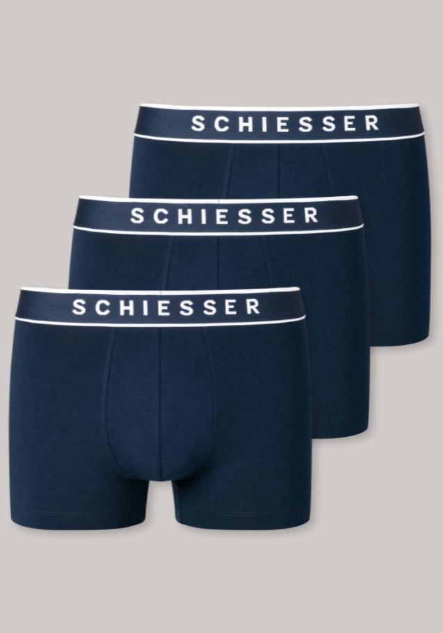 Schiesser 95/5 short, 3-pack donkerblauw