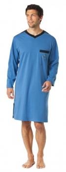 Schiesser heren nachthemd, blauw