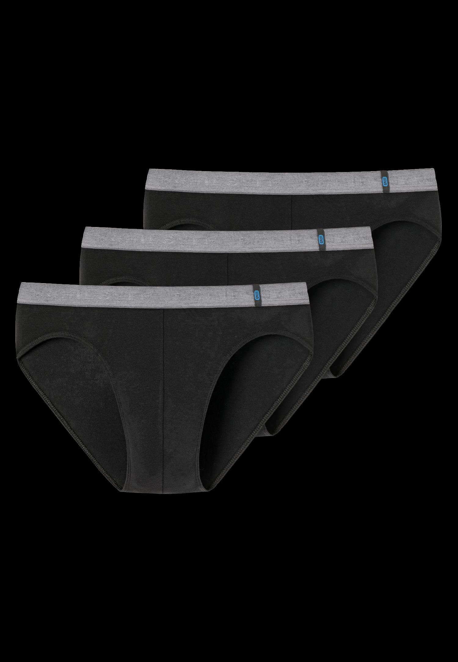 Schiesser 95/5 3-pack Rio-slip, zwart