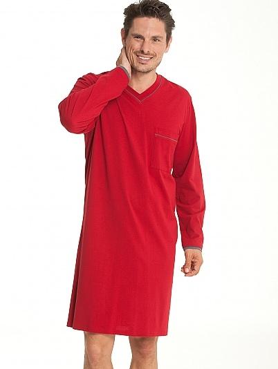 Schiesser Seidensticker heren nachthemd rood